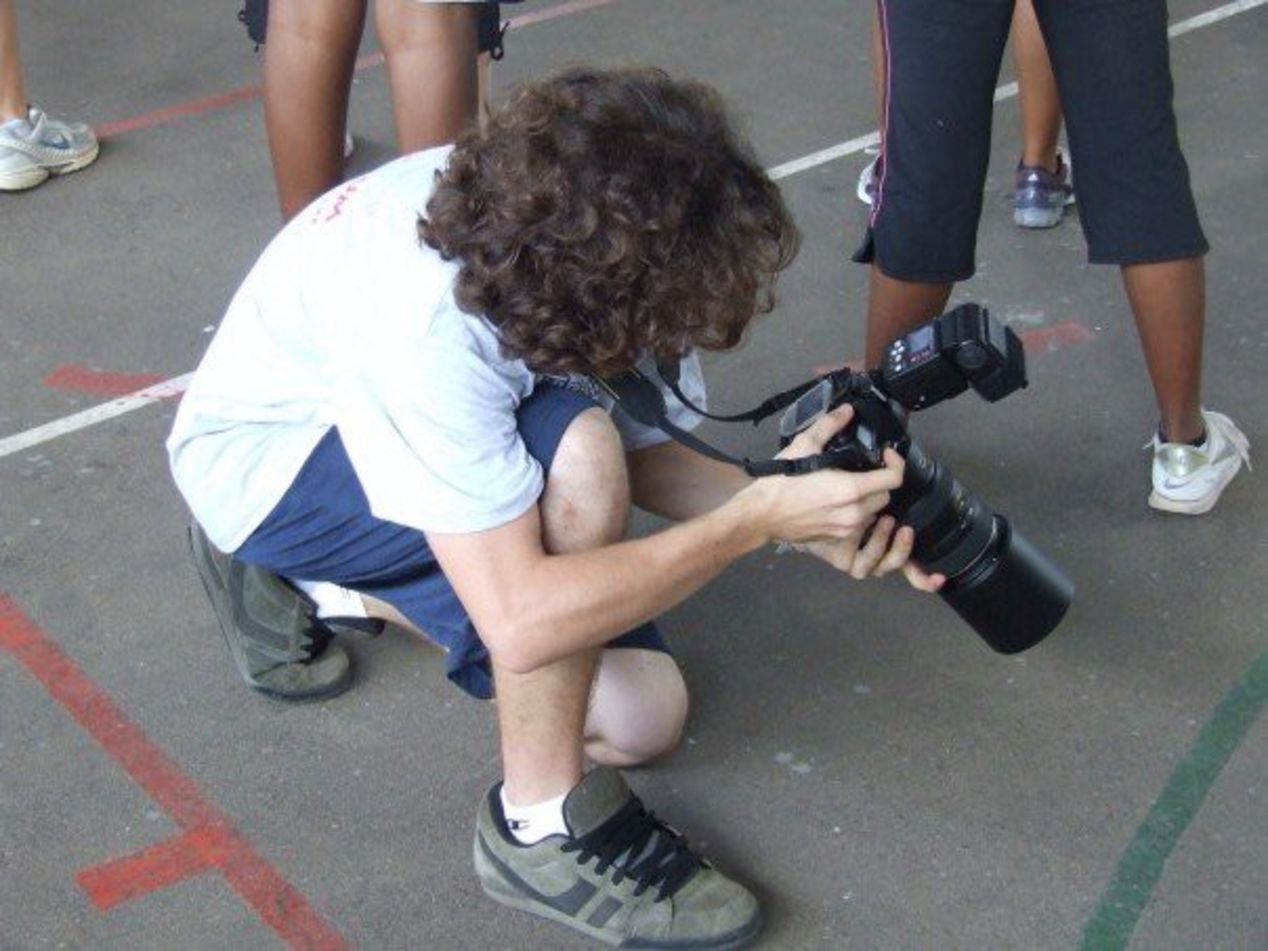 Me and the D70s at a school event.