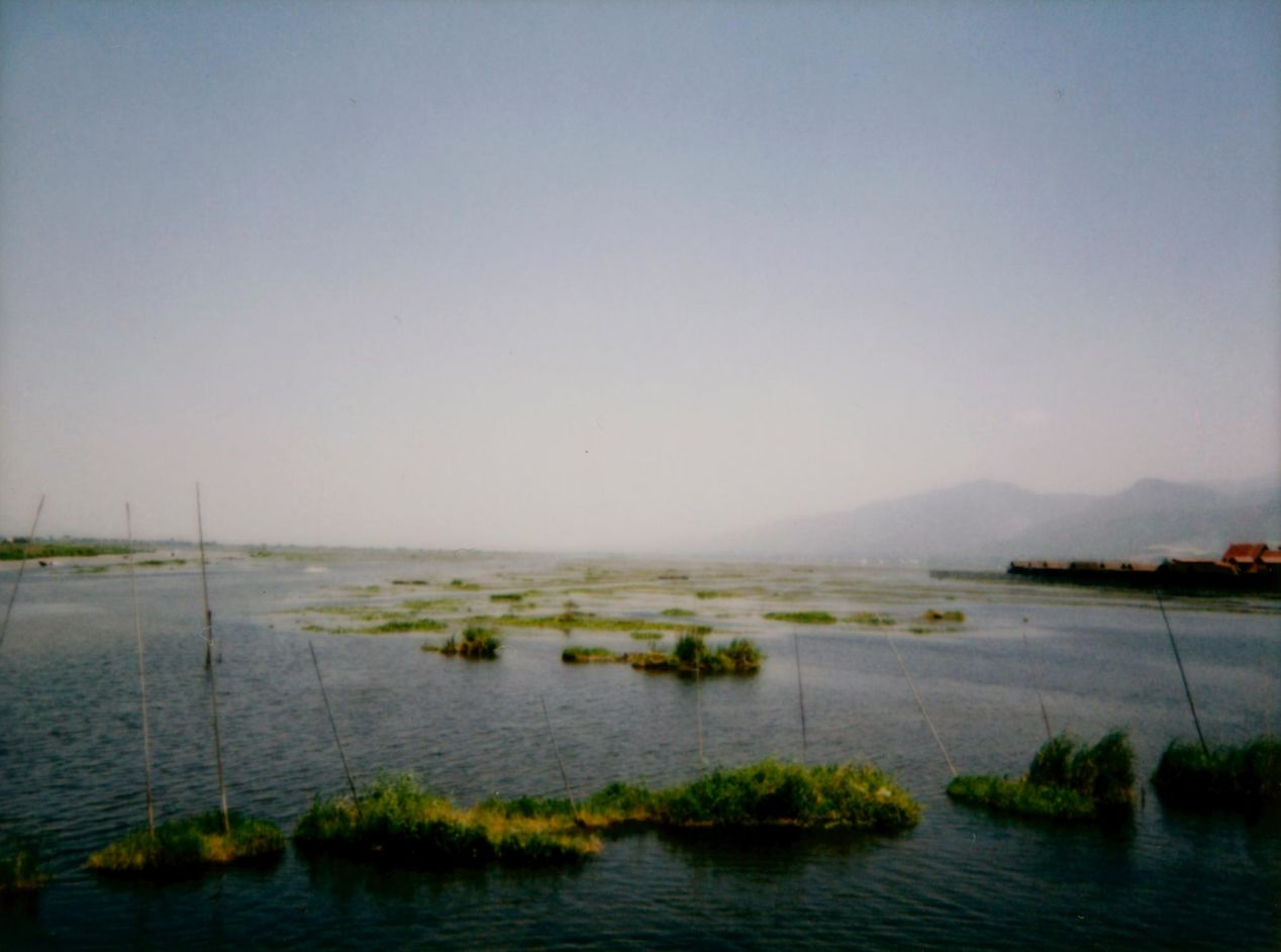 A view of Lake Inle, shot on Instax Mini 90.