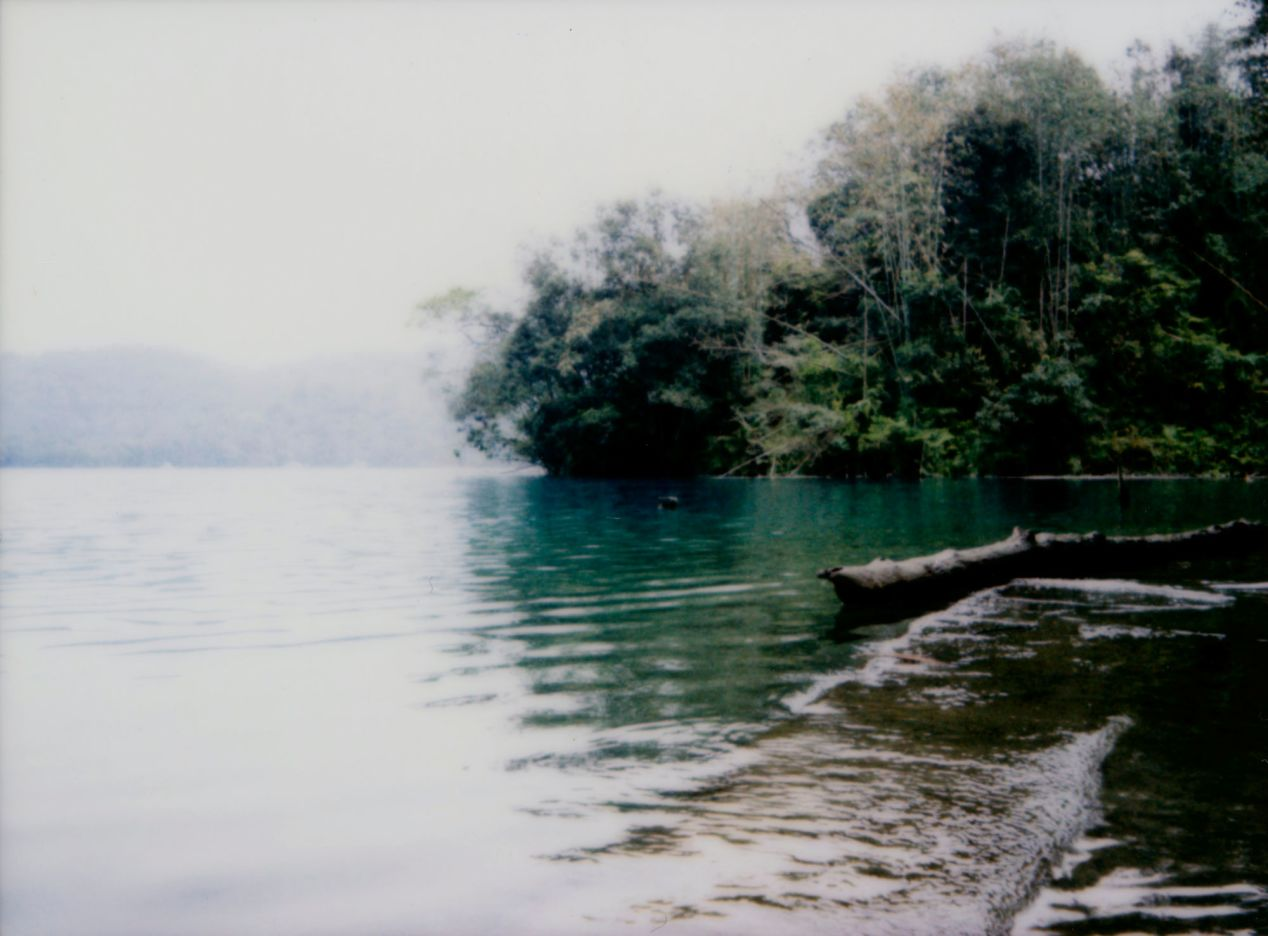"""""""Emerald-Green Waters of Sun Moon Lake"""" - shot on Instax Mini 90."""