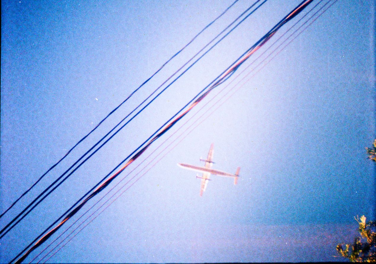 A photo of a rotary engine plane, shot in Toronto (point of departure for Jacob) about six years ago on Diana Mini with some type of Lomography-branded film.