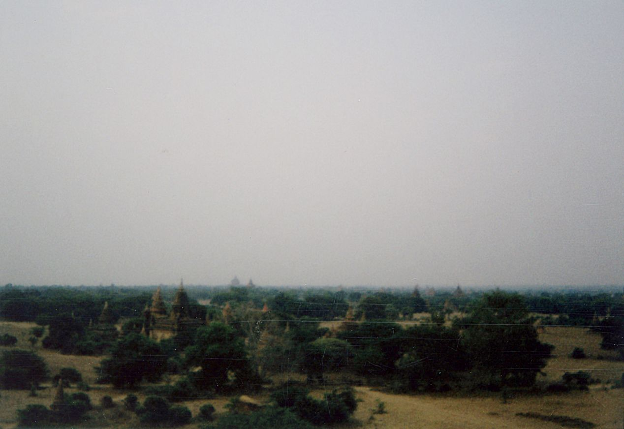 Every triangle speck in this photo is a temple roof. Stretching far beyond the horizon into the heat, dust and the sparse jungle of Bagan. Shot on Instax Mini 90 (I've adjusted the brightness and sharpness for this scan in Photoshop).