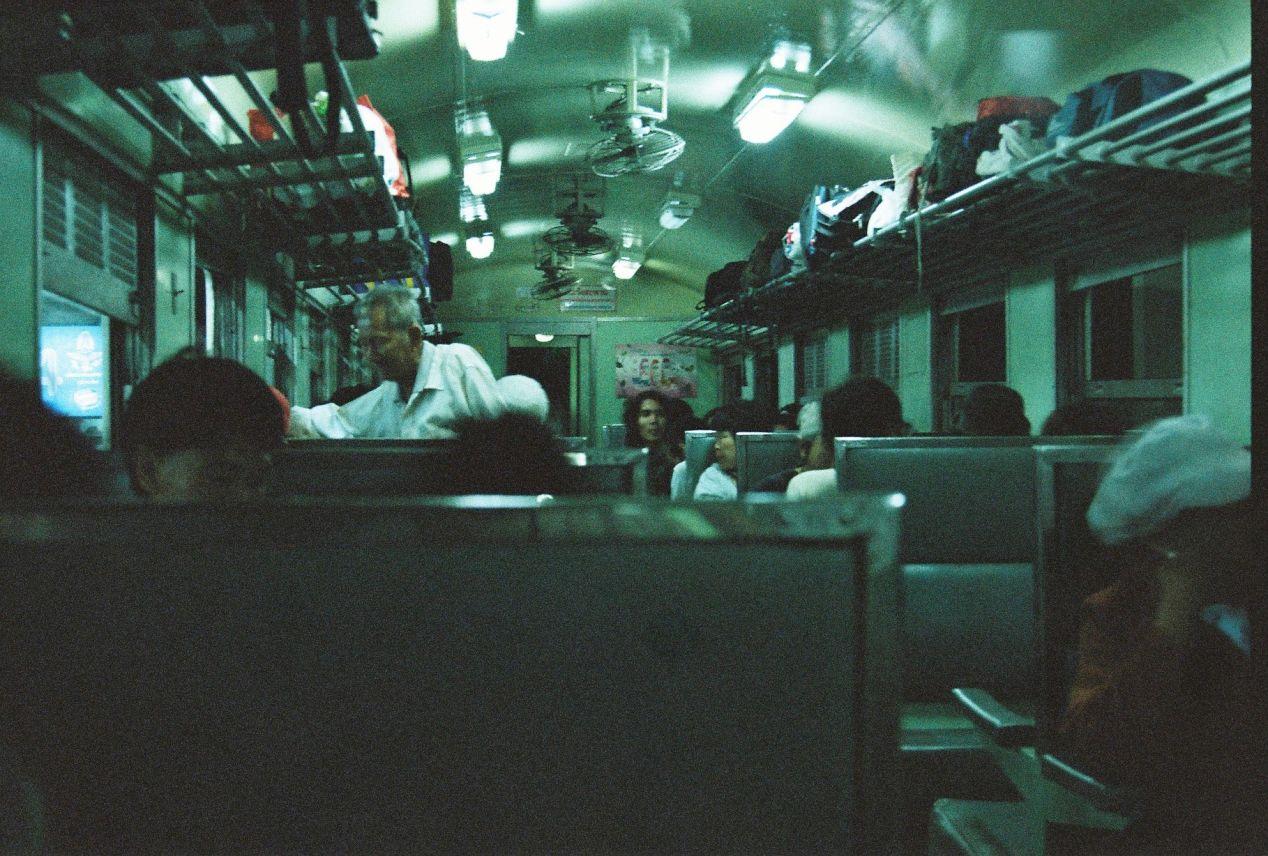 Train cabin. Yashica FX3 Super 2000, Color Plus 200.