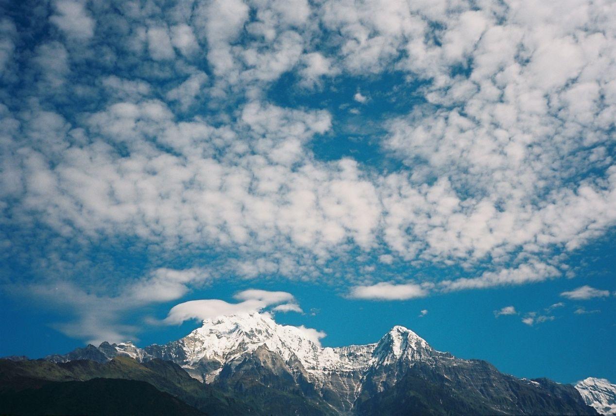 Annapurna, view from Ghandruk village, Olympus MjuII, Kodak Ektar 100.