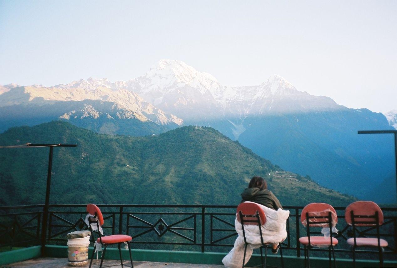 Moment of calmness, Taken in Ghandruk village, Olympus MjuII, Kodak Ektar 100.