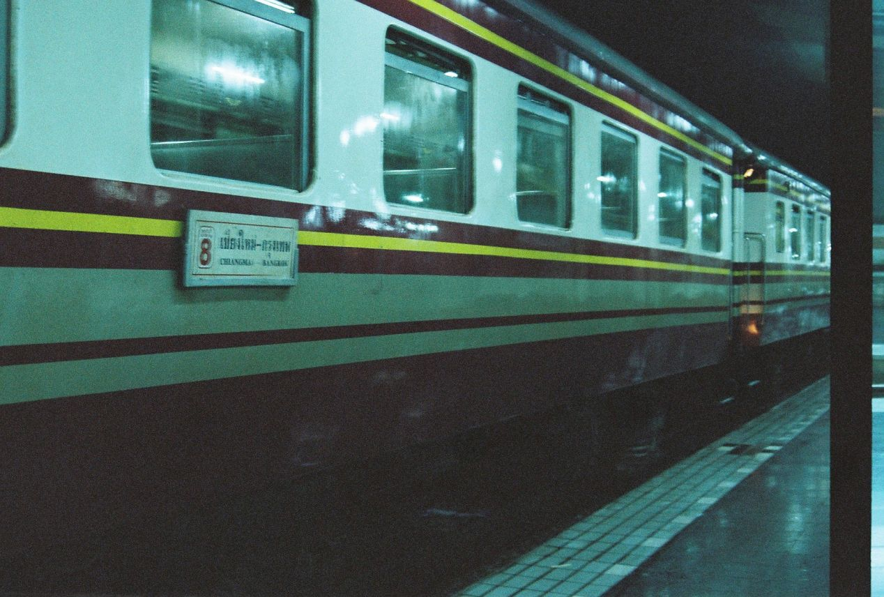 Free train from Chiang Mai to Bangkok. Shot with Yashica FX3 Super 2000 on Kodak Color Plus 200.