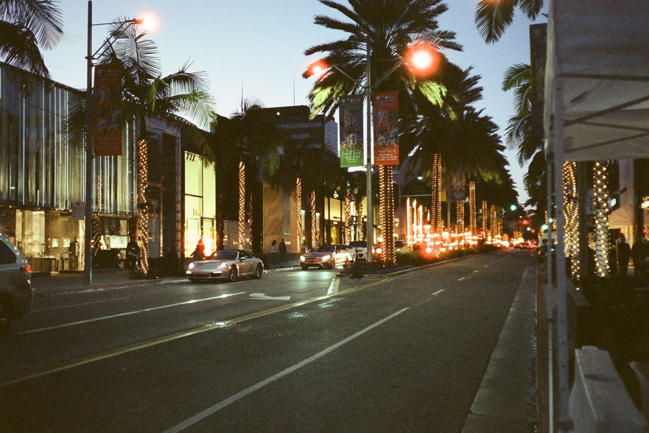 Rodeo Drive in Beverly Hills, California.