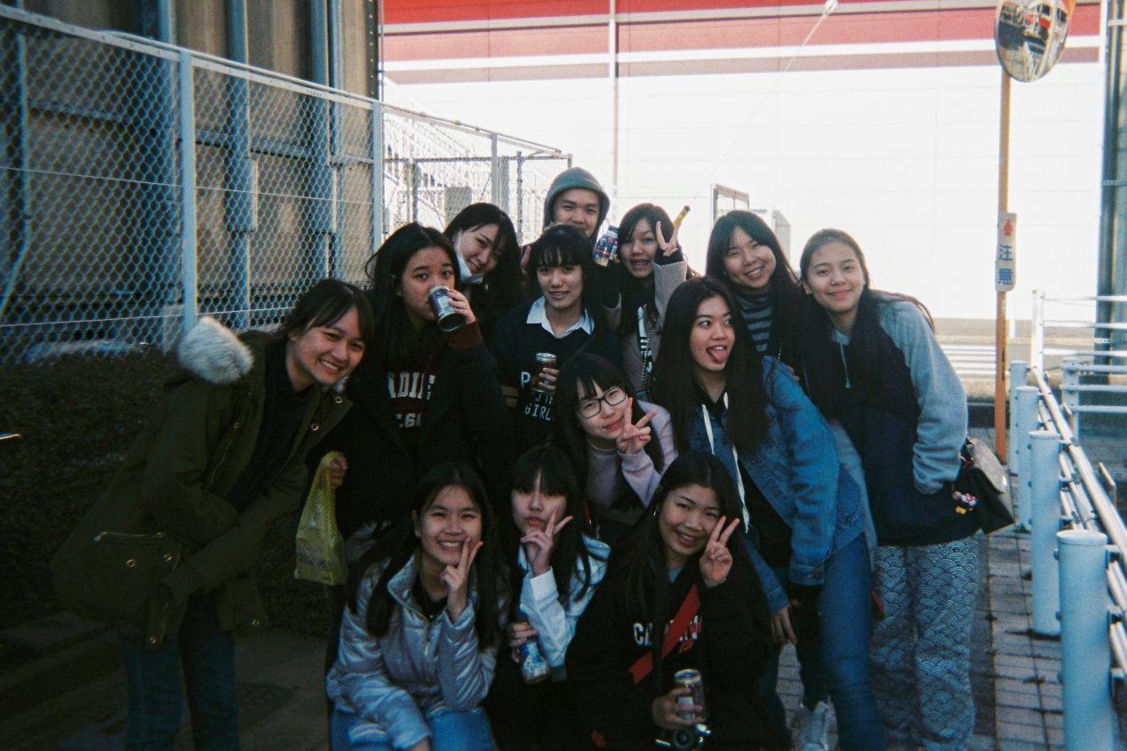 """Girls."" Narita, Japan. Shot with Fujifilm Simple Ace 400 Disposable."