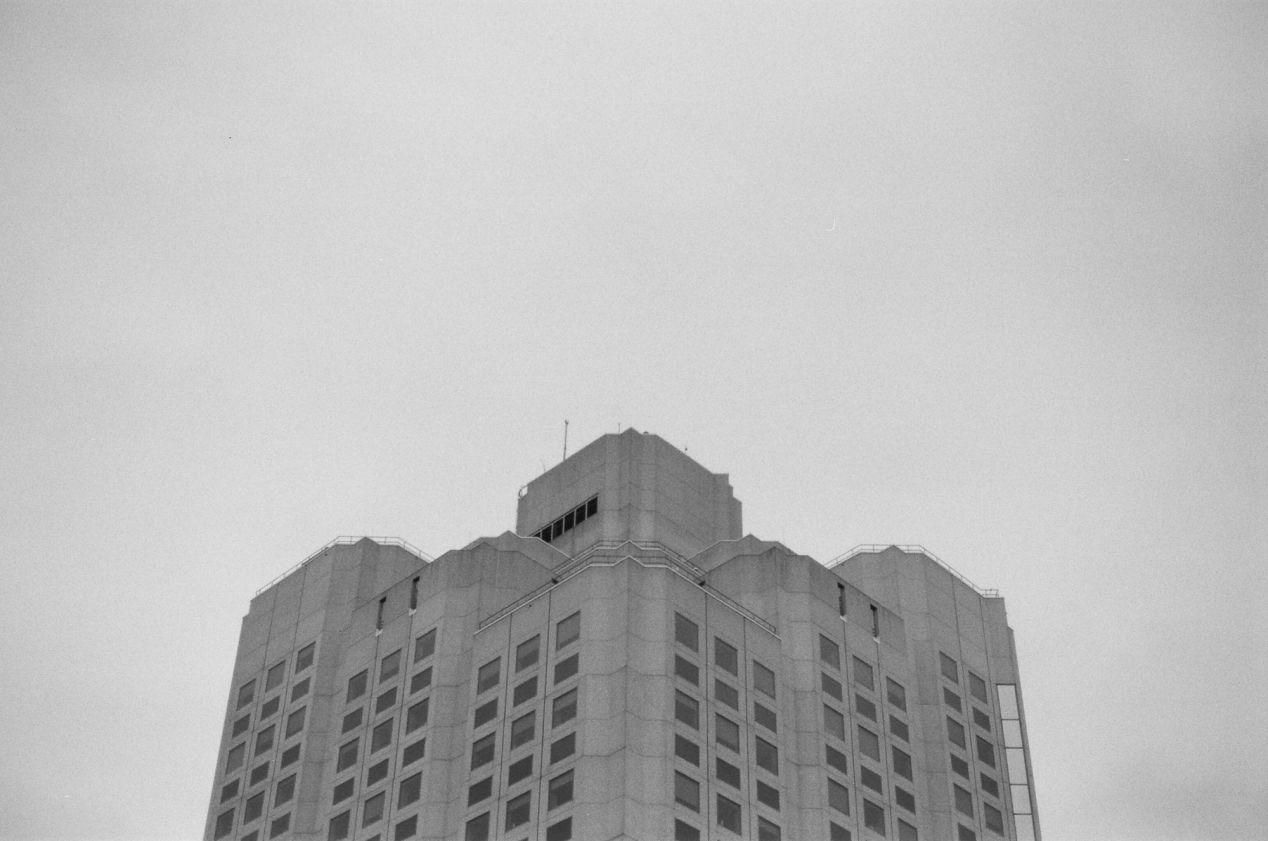 "Vancouver general hospital, on Ilford FP4 Plus 125 shot with my ""new"" Nikon F90 and a Nikkor 50mm 1.4D."