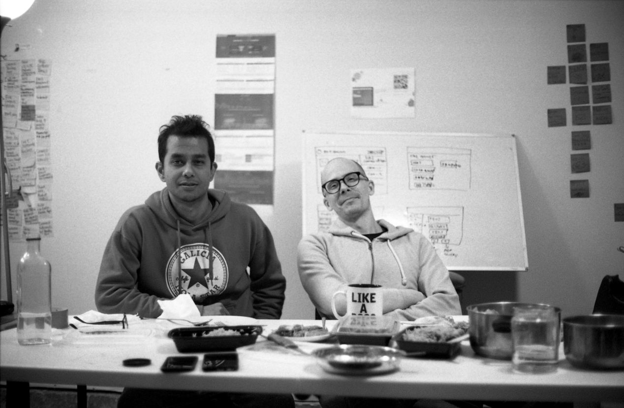 Ish and I, captured by Arjun.