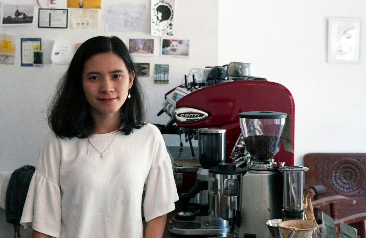 This is Khim, who works with Ta at the lab every day.