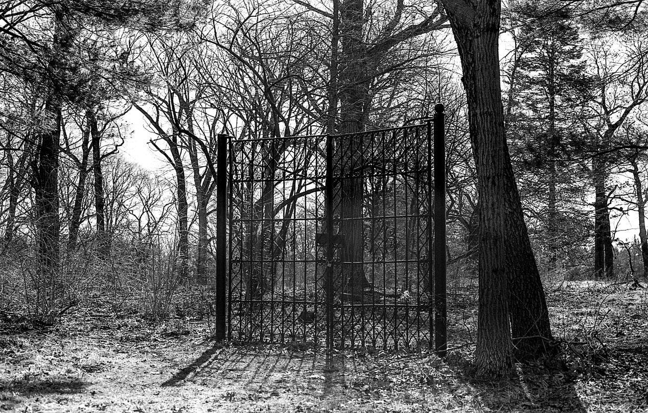 """""""Erroneous Gate."""" Camera: Olympus OM2n, shot on Ilford XP2 Super 400."""