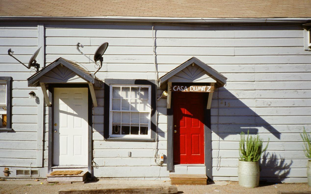 Los Alamos (top and bottom) and Solvang, California. Yashica T5 and Kodak Ektachrome E100.