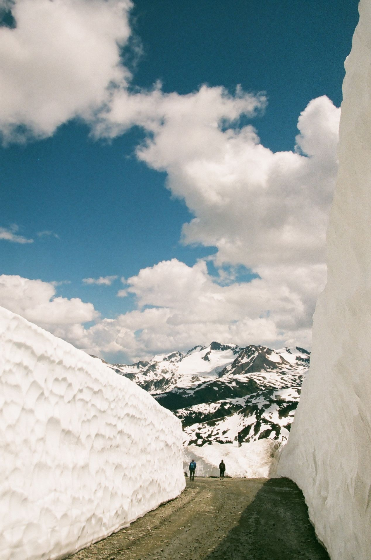 Even during the summer months, Whistler is abundant with snow.