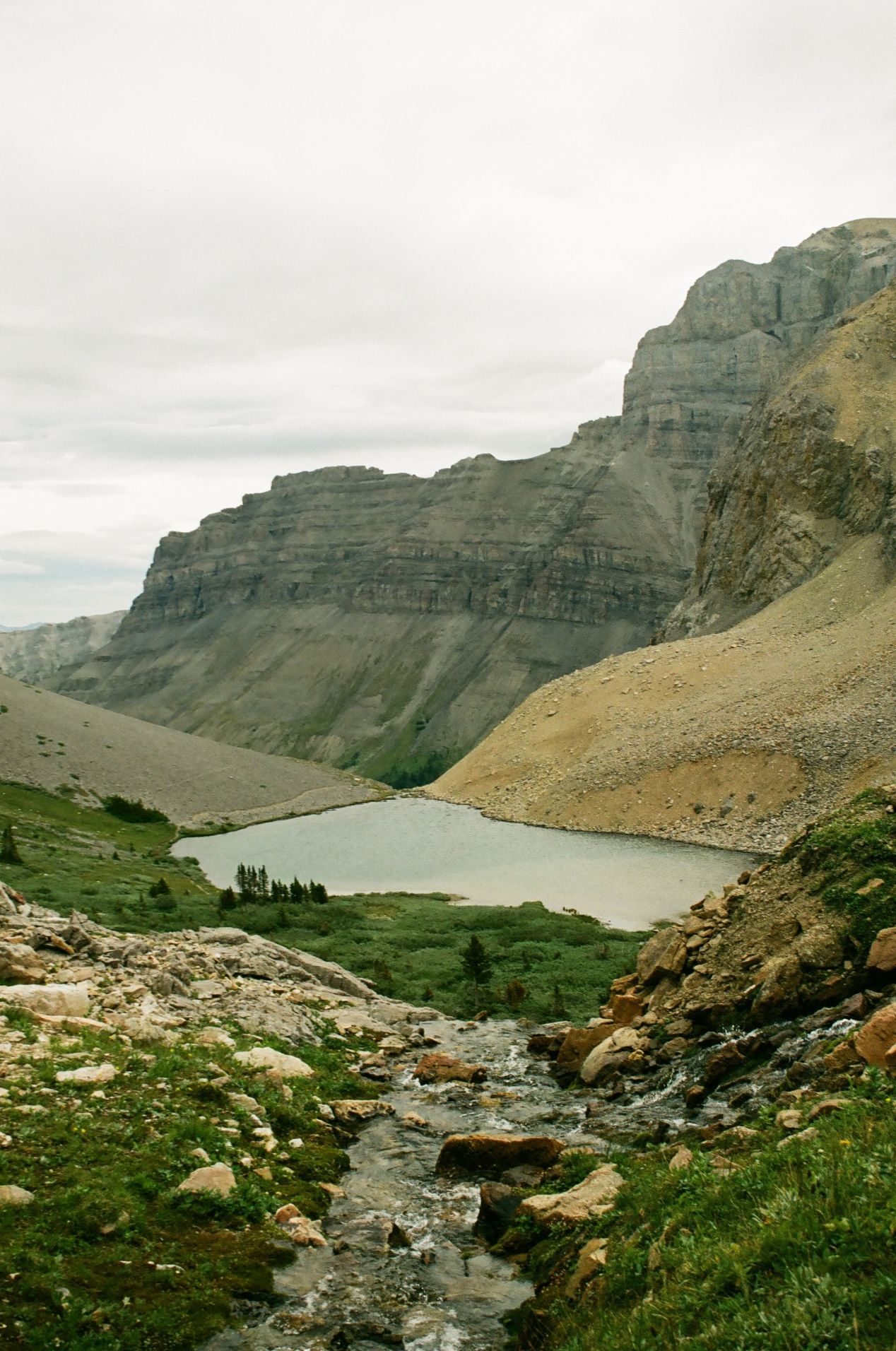 One of the two lakes at the top of the trail.