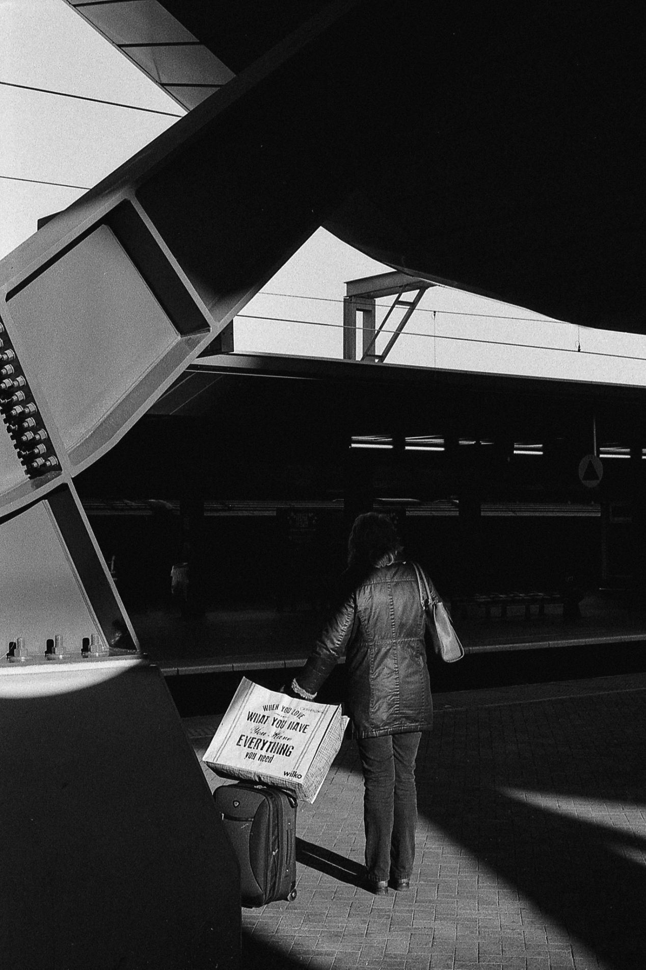 Passenger. Reading Station, UK. Ilford HP5, pushed to 1600.