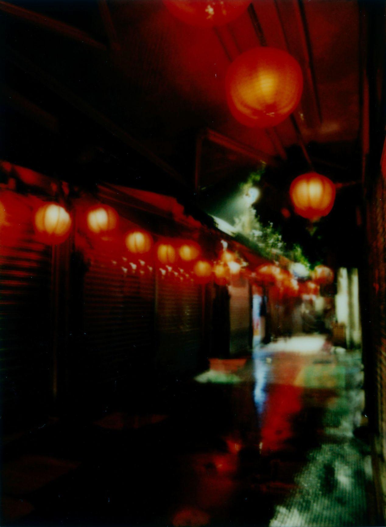 """Night Lanterns at Jiufen Market"" - shot with Instax Mini 90."