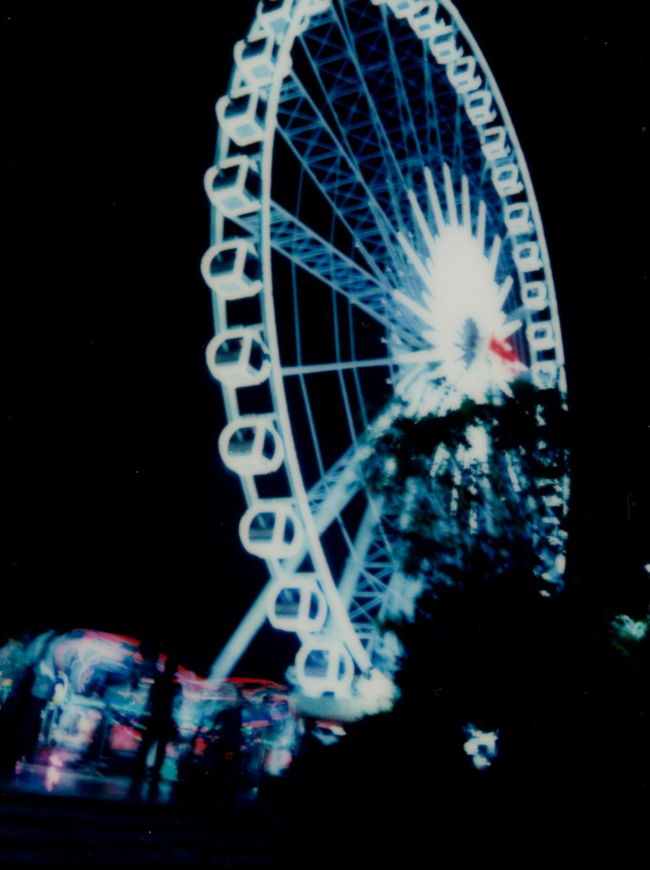 """Asiatique Ferris Wheel,"" shot with a four-second exposure on Instax Mini 90."
