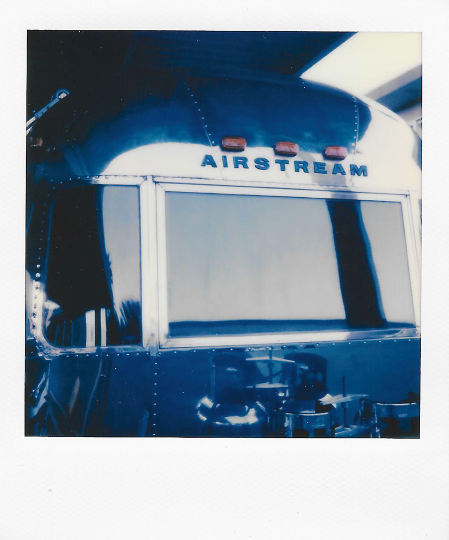 Vintage Airstream in Palm Springs, California. Taken with a Polaroid 600 Camera and Polaroid Originals 600 Film