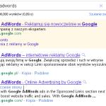 W samej wyszukiwarce Google reklamy wyświetlane są na jasnobudyniowym tle - w kolumnie po prawej stronie, a w najlepszym wypadku ponad wynikami organicznymi.
