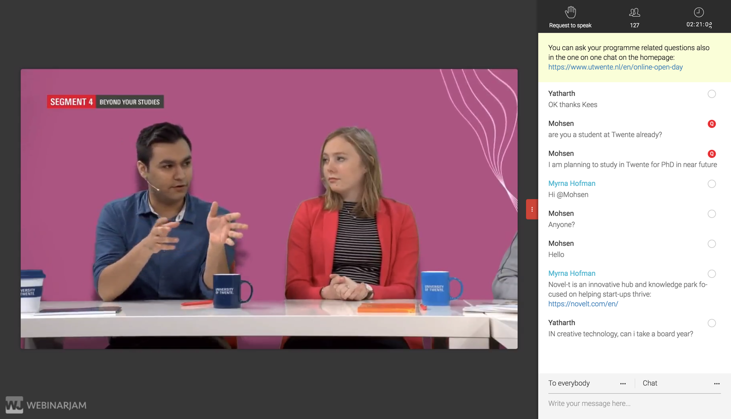 Screenshot of Online Open Day, close up of Anand Chowdhary