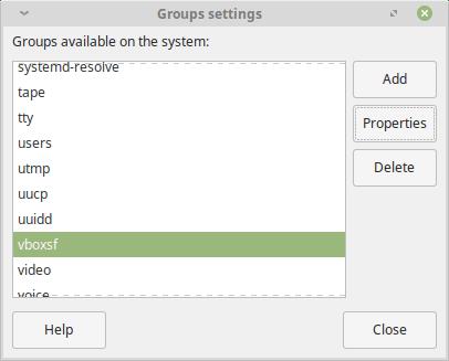 Linux Mint Group Settings