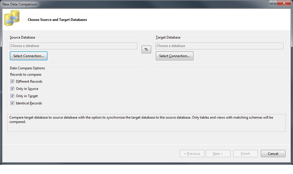 Visual Studio - Outil de comparaison de données