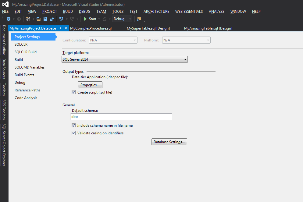 Visual Studio - Configuration du projet