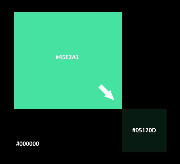 Par exemple, en prenant comme base la couleur **#45E2A1**, on va lui appliquer une opacité de 12% sur un fond noir, ce qui va nous donner le résultat suivant (je vous conseille d'ouvrir l'image dans un nouvel onglet pour bien voir les couleurs)
