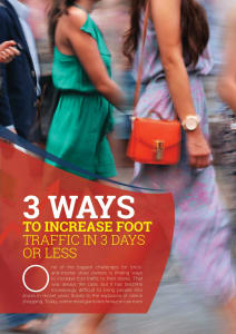 3 Ways to Increase Foot Traffic in 3 Days or Less