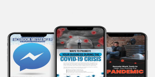 Iphone mockup of Industry Influencer Online Marketing Magazine