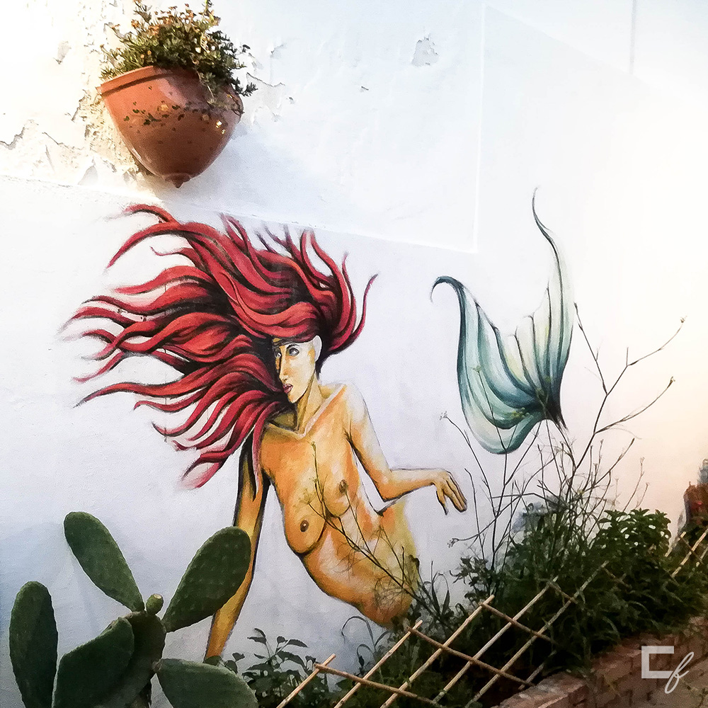 wall mural mermaid marzamemi