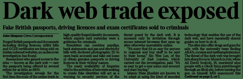 Dark web trade exposed