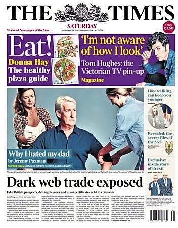Dark Web (Times front page)