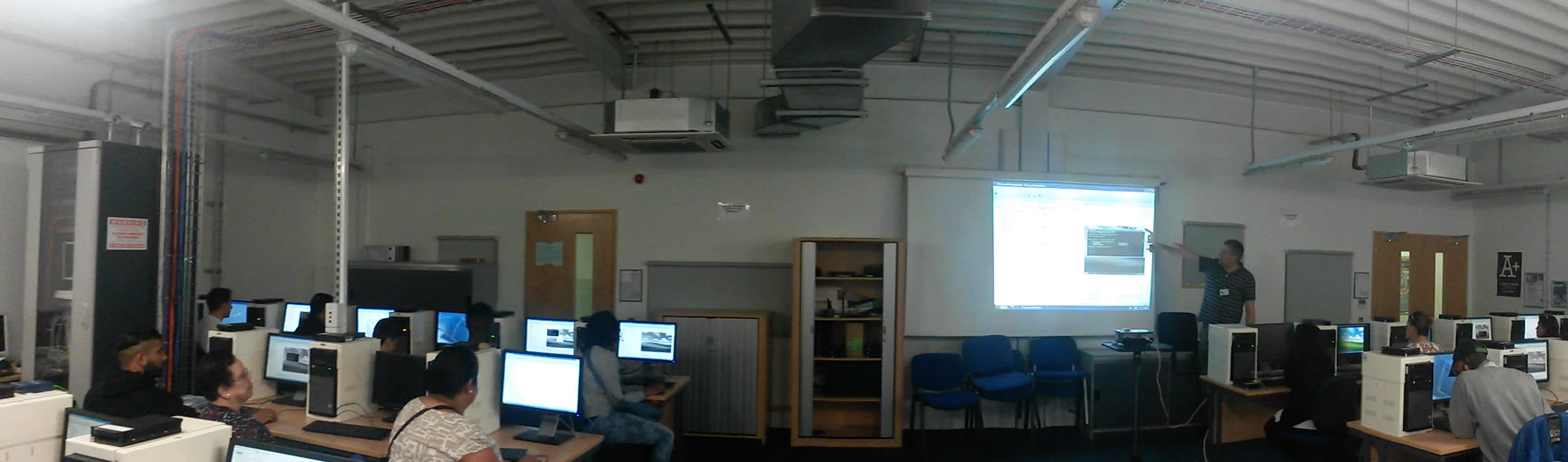 Knowledge Dock labs with Mike teaching