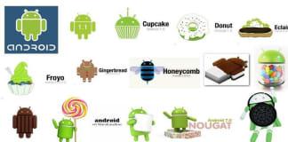 urutan nama android