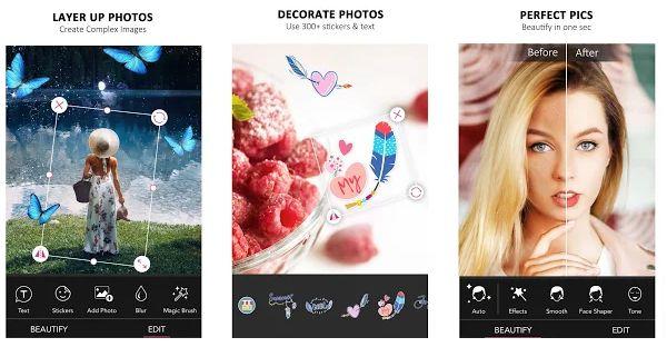 Aplikasi Edit Foto Terbaik YouCam Perfect