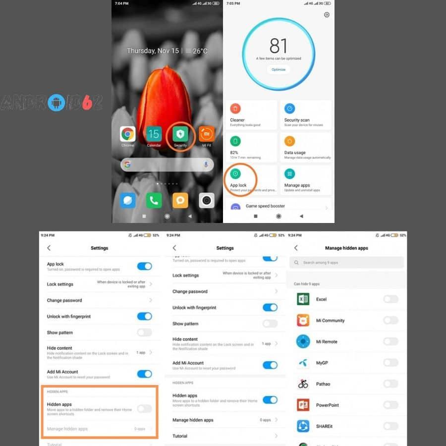 Cara Menyembunyikan Aplikasi di Xiaomi