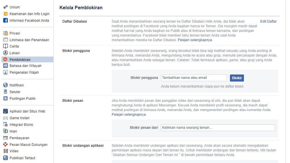 Cara Memblokir Akun FB Orang Lain