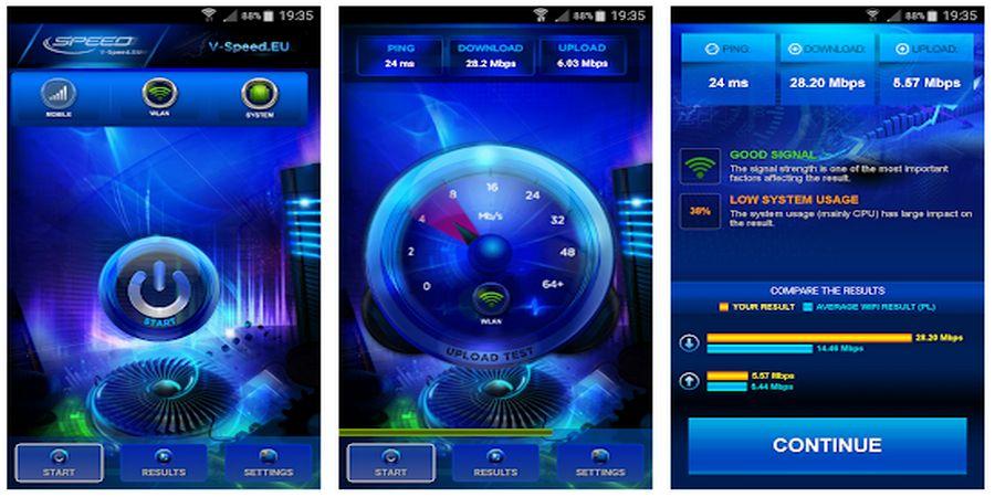 Cara Cek Kecepatan Internet di Android V-SPEED