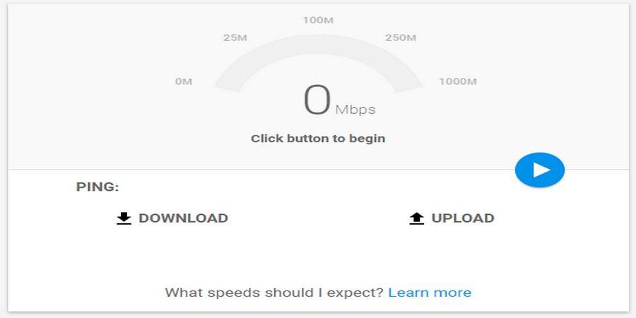 Cara cek kecepatan internet dengan Google Fiber Speed Test