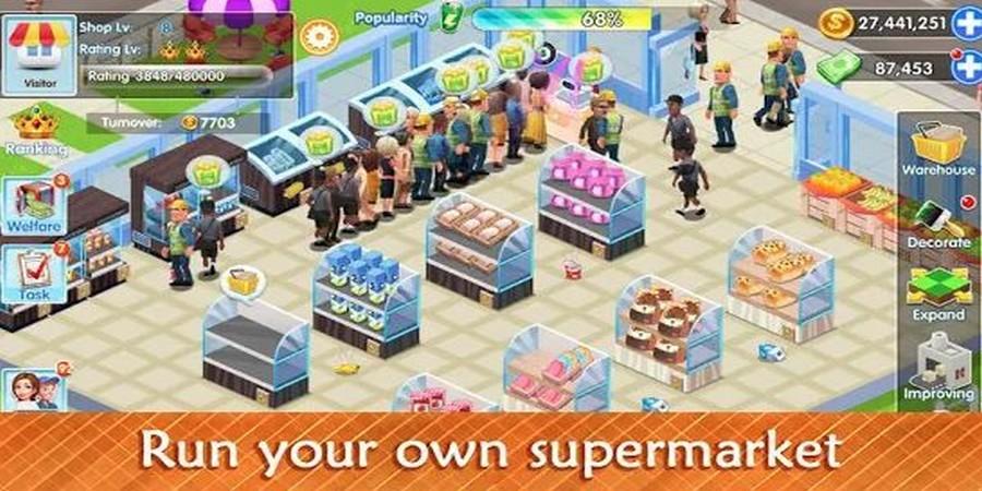 Game Supermarket - My Supermarket Story Store tycoon Simulation