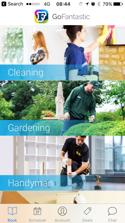 example of home services in app