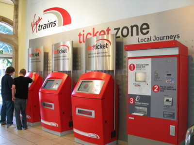 Virgin Fast Ticket Kiosk