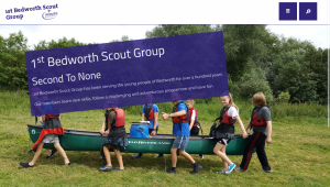 Scout Group Website Design and Development