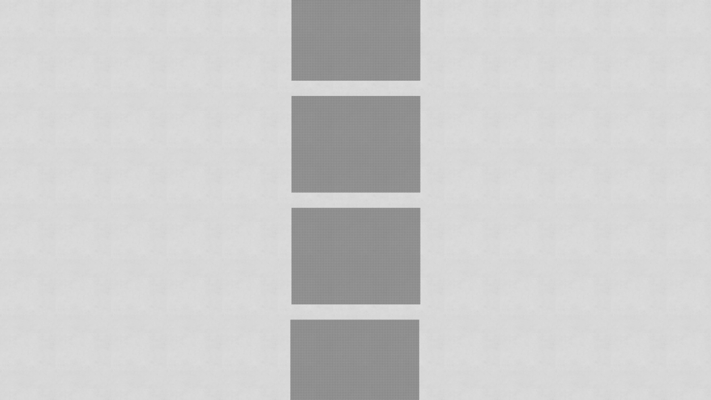 A vertical stack of 4 grey boxes