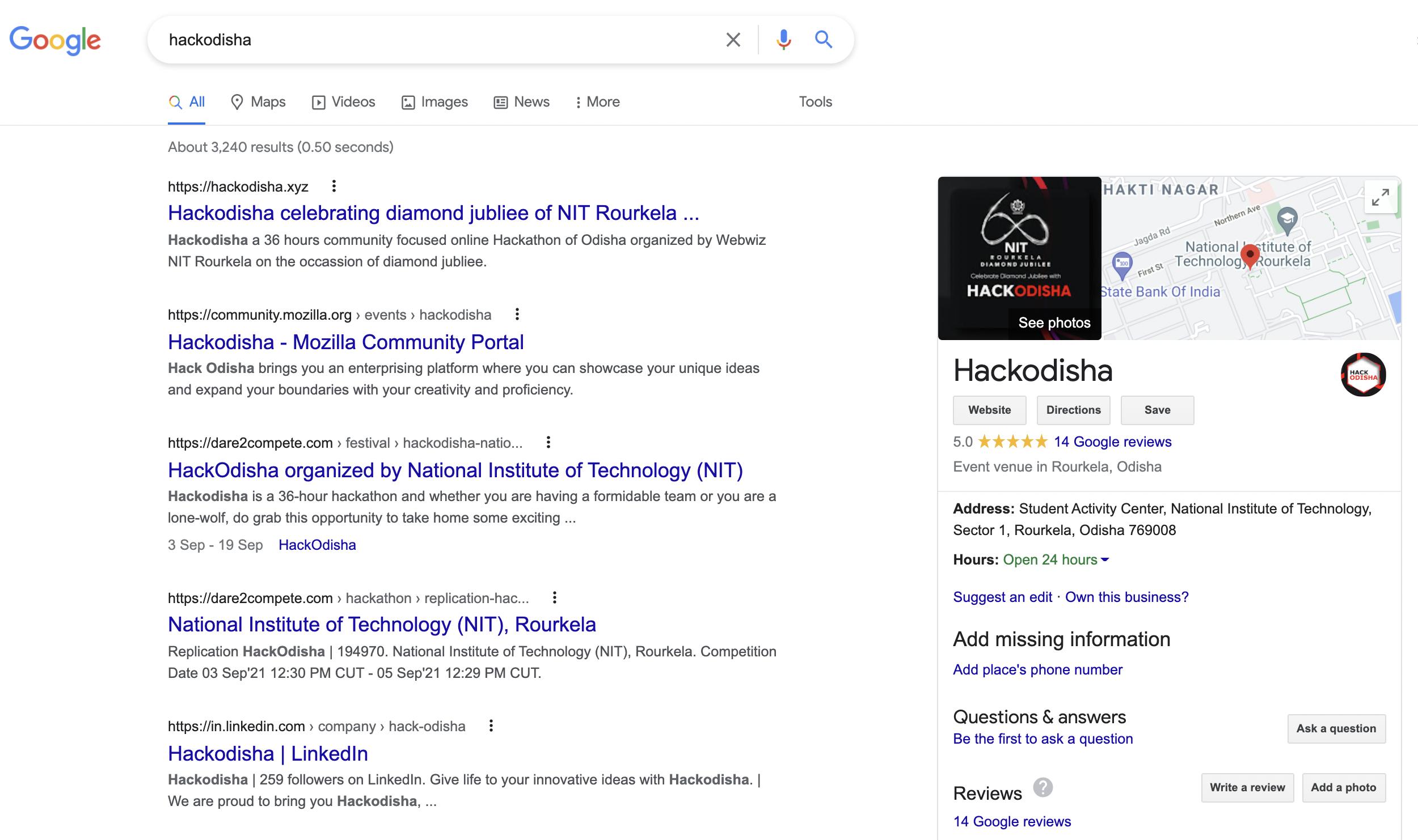 Hackodisha hackathon