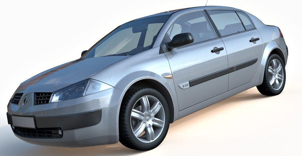 2008 Renault Megane Sedan 3d model
