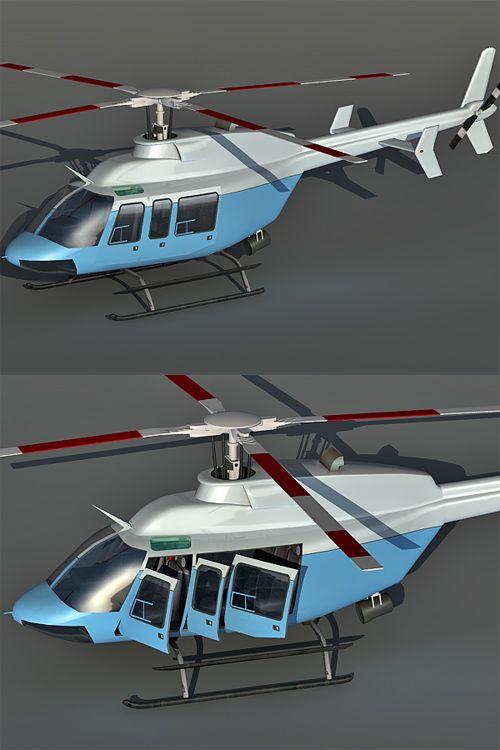 Bell 407 3d model