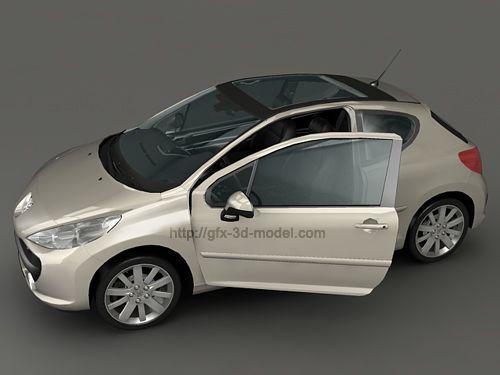 Peugeot 207 3d model