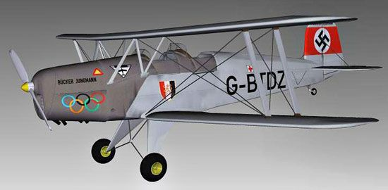 Bucker Bu 131 Jungmann 3d model